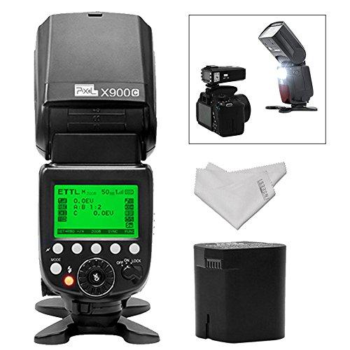PIXEL E-TTL HSS Lithium-Akku Wireless Speedlite Flash mit 4 W LED lifht 1.5sec blitzfolgezeit für Canon EOS Digital SLR Kamera 5D Mark IV III 6D 7D II 80D 70D 60D 760D 750D 700D 650D 600D 550D -