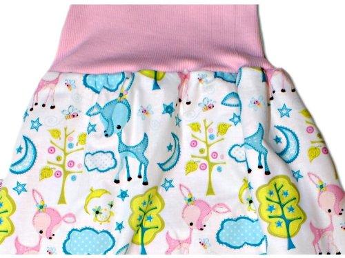 Baby Schlafsack Pucksack Strampelsack Reh in Rosa - Länge 50 cm