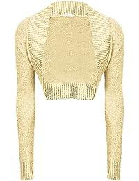 Cárdigan bolero de manga larga para mujer, de punto (tallas 34 - 40)