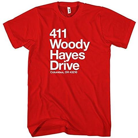 Smash Transit Men's Ohio State Football Stadium T-shirt - Red,