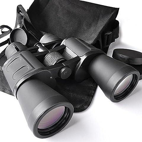 ReaseJoy Day Night Vision Binoculars Waterproof Compact Zoom Telescope Bird Watching Sightseeing 50mm Tube 10x-180x100