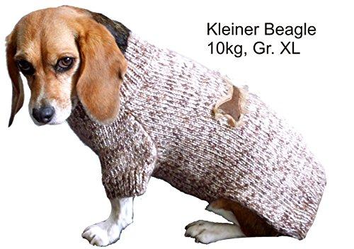 Schwarzer Strickpulli XXL mit Knochen für Hunde - Stark reduziert - Dogs Stars