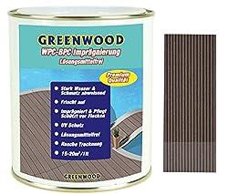 Greenwood - Premium WPC Pflege & Schutz Imprägnierung Mittel- Dunkelbraun #2L 750ml Lösungsmittelfrei - Keine Ausdünstungen - Haustierfreundlich - Schadstofffrei
