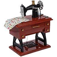 RDYHJHFJ Caja de música mecánica Wind Up Vintage Mini Estilo de máquina de Coser