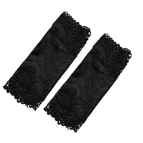 Stretch-spitzen Handgelenk Handschuhe (ULTNICE Paar Spitze Armstulpen/ Hochzeit Handschuhe Sonnenschutz für Frauen (Beige))