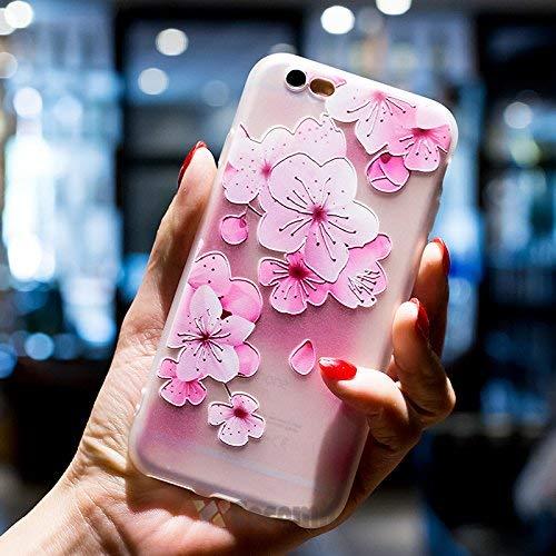 Cocomii Cute Armor iPhone 6S Plus/6 Plus Hülle [Fühlt Sich Gut In Der Hand] Hübsch 3D-Muster Relief Silikon Stoßfest Gehäuse Case Schutzhülle for Apple iPhone 6S Plus/6 Plus (C.Cherry Blossom) (Shield Protector 6 Plus Phone I)