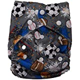 Kids Happy All-in-One Bottom-Bumpers Cloth Diaper With 1 Cloth Diaper Pad (Grey Ball)