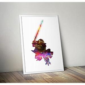 Star Wars inspirierte Poster, Yoda Druck A4 8.3 x 11.7 Zoll