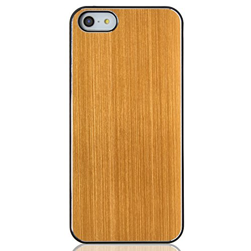 RE:CRON® Edles Handycase Case Hülle Aluminium braun für Apple Iphone 5, 5S Gold Orange