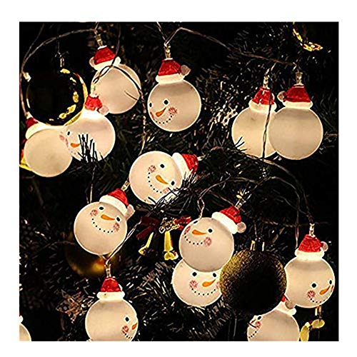 Kingko ® 3M 20LED Christmas Snowman Light Strings, Battery Powered Fairy Tale Christmas Lights, Outdoor Home Decor Solar Lights, Garden, Patio, Lawn, Party and Holiday (Warm White) (Multicolor)