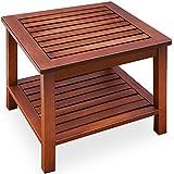 Table d'appoint vorgeölt bois d'acacia table de jardin Table basse Table en bois table en bois 45x 45x 45cm