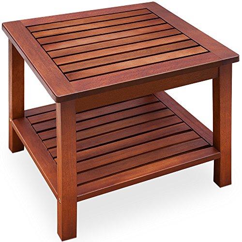 ecktisch holz Beistelltisch vorgeölt Akazienholz Gartentisch Couchtisch Holztisch Tisch Holz 45x45x45cm