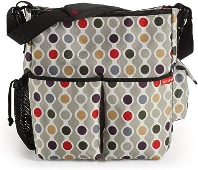 Skip Hop DUO-CAN-WAD - Bolso para pañales y cambiador con diseño de lunares, multicolor