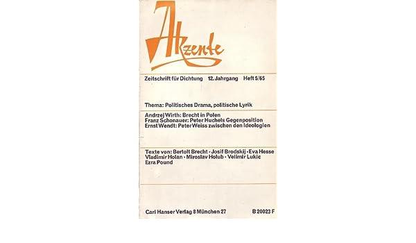 Politisches Drama Politische Lyrik Akzente Zeitschrift