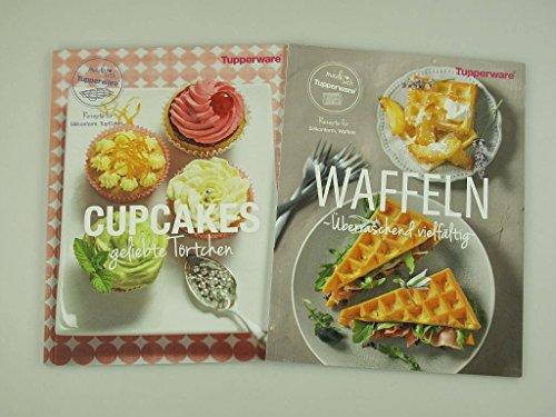 TUPPERWARE Rezeptheft Cupcakes Törtchen Backen + Waffeln Silikonform Deutsch (Tupperware Cupcakes Für)