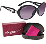 #2: elegante' UV protected Purple Oval Sunglasses for Women