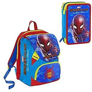 51NgIDnWKDL. SS300  - Mochila Seven Schoolpack Spiderman Far from Home con Estuche Completo