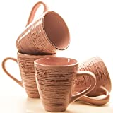 MC-TREND® 4er Set Becher Tassen Vintage Shabby edle Antik Finish Optik (Antik Rose)