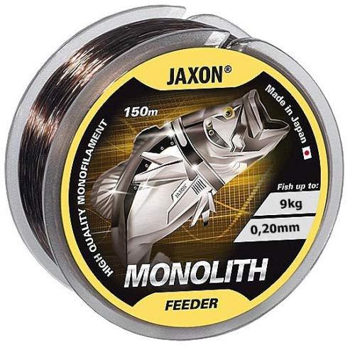 Jaxon Angelschnur Monolith Feeder 150m / 0,16-0,35mm Spule Monofile Feederschnur (0,20mm / 9kg)