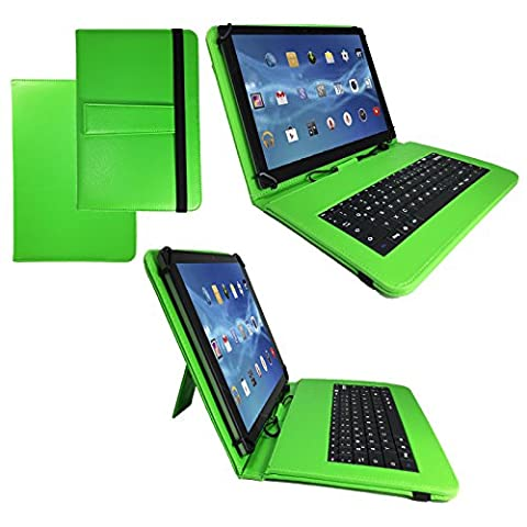 Qwertz Tastatur Tablet Tasche für Asus MEMO PAD 8 ME581CL / 8.0 / 8