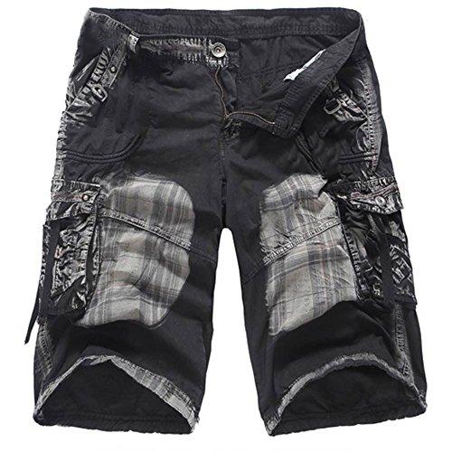 Männer Cargo Shorts Werkzeug Shorts Camouflage Shorts Herren Sportshorts Sommer Kurze Hosen Slim Fit Jogginghose Laufen Hosen (24 Zoll Swim Trunks)