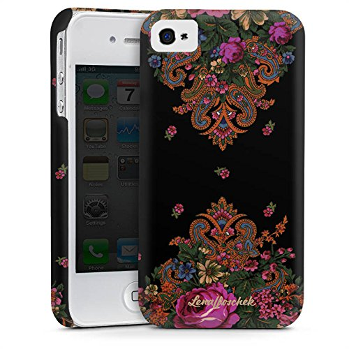 Apple iPhone 5s Housse Étui Protection Coque Lena Hoschek Motif floral Ornements Cas Premium mat