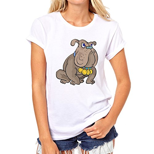 Dog Pets Puppies Animal Golden Medals Damen T-Shirt Weiß