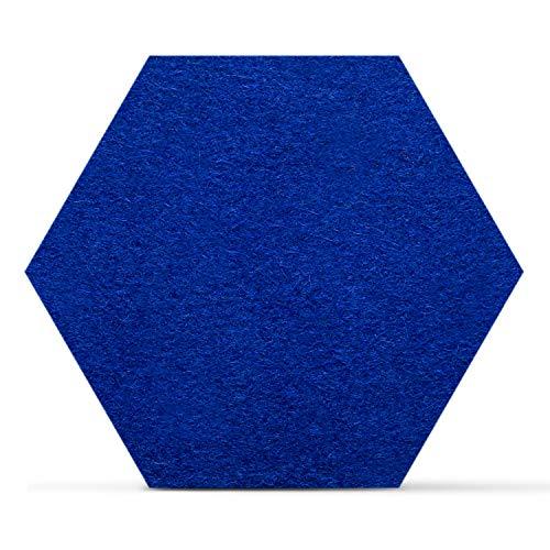 Smacc Filzuntersetzer, Hexagon 8er Set (Farbe wählbar) - Glasuntersetzer aus 100% Schafwolle, Untersetzer für Bar und Tisch, Einrichtungsideen als Tischdeko (Blau) -
