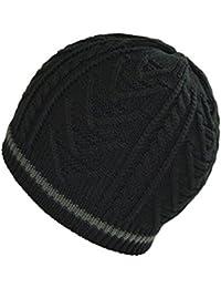 Beanie Gorro de punto caliente Tioamy tejer Lana Sombrero Unisex Slouchy  Beany suave Cap Beanie Hat ebd8bbce72e