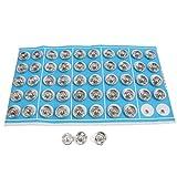 Bambola Outfit piccolo bottoni a scatto pulsante 10 millimetri 50 Pz tono argento