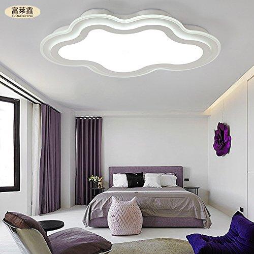 nubi ferro creativo soffitto del LED pranzo camera da letto soggiorno acrilico semplice ed elegante 32-36w interruttore di accensione a distanza , white , 36W 700*465mm