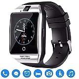 TagoBee TB02 Bluetooth Smart Uhr mit SIM-Kartensteckplatz Kamera HD Screen Touch-Unterstützung Whatsapp Facebook Benachrichtigung Kompatibel mit Allen Android-Handys und iPhone (Teilfunktion) Silber