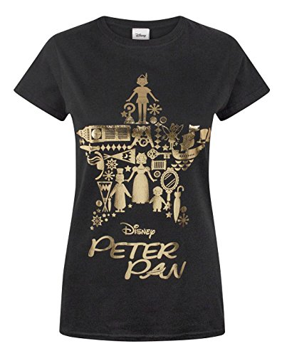 disney-peter-pan-gold-foil-womens-t-shirt-m