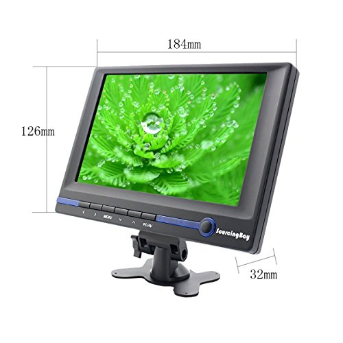 changeable Mount 7 inch TFT Color LCD van Rear View Camera Monitor Native Resolution 800480Support HDMI VGA AV smart seriously feel base Sourcingbay Video