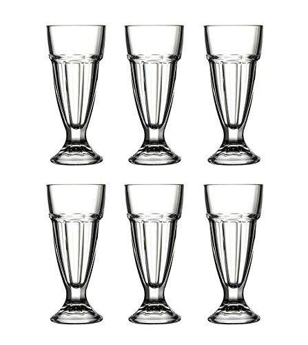 Pasabahce 51128 Arctic - 6er Set Eisbecher, Eiskaffeebecher, Milch Shake, Frappé, 6 Stück