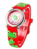 Happy Cherry - Reloj Infantil de Cuarzo Analógico Correa de Silicona 3D Watch Colorido de...