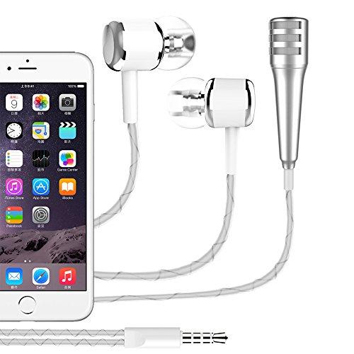dgxs Portable Handheld Kondensator Mikrofon, Mini Vocal / Instrument Mikrofon Für Tabletten und Smartphones Apple iPhone Sumsung Android mit Halter Clip - Farbe zufällig