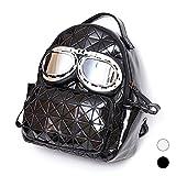 MANGO KING Neue Mode Schultertasche Kreative Brille Lingge geometrische Trend-Rucksack Student Reisetasche Klassisch und praktisch hochwertiges Material Cool und Persönlichkeit Schwarz