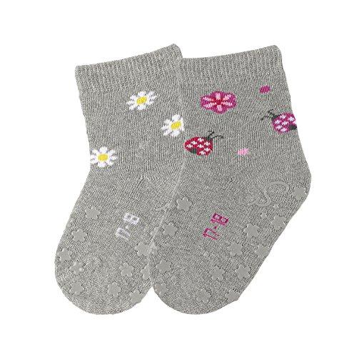 Sterntaler ABS-Krabbelsöckchen Doppelpack mit Blumen-Motiv, Alter: 18-24 Monate, Größe: 22, Mehrfarbig (Mehrfarbig Melange) (Blumen-mädchen-socken)
