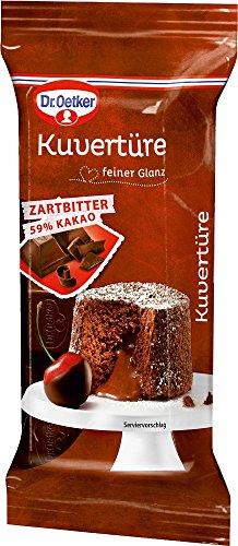 Dr. Oetker Kuvertüre Zartbitter 59 {c8be5e27e47098e990a1cacaf992ed71aaa7e72f5730a33750bc8c5405c70b21} Kakao, 6er Pack (6 x 150 g)