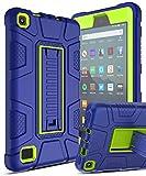 Innens Étui de Protection Hybride résistant aux Chocs avec béquille intégrée pour Tablette Kindle Fire 7 7ème génération, 2017/2019
