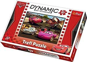 TREFL Dynamic 35194 - Puzle (50 piezas), diseño de Cars