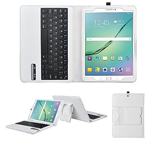 Samsung Galaxy Tab 3 8 Pouces - IVSO Housse de Protection avec Clavier Bluetooth