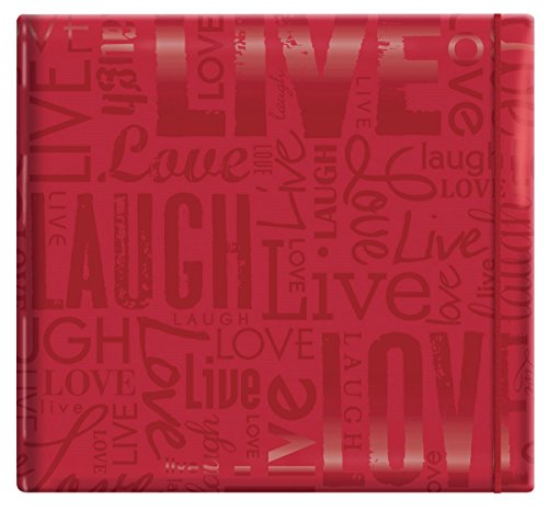 Mbi 12x12 Album (MCS MBI by Embossed Gloss Expressions Scrapbook, 30,5 x 30,5 cm, Braun mit geprägter Aufschrift Memories 12 by 12 rot)