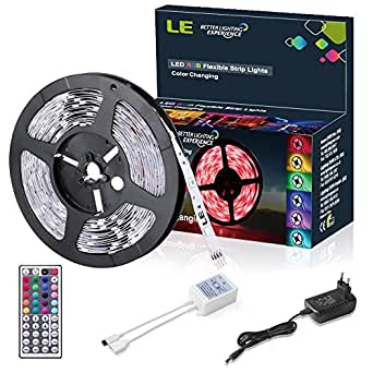 le 5m 150 5050 leds flexibler led streifen rgb farbwechsel diy beleuchtung led strip. Black Bedroom Furniture Sets. Home Design Ideas