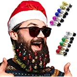Goldenlight 24Pcs 2cm Boules de Noel Barbe Boule Barbe Noel Barbe Decoration de Noël Ornements de Barbe
