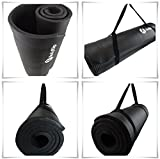 BodyRip NBR Exercise Mat - Black, 183 cm