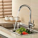 Auralum Niederdruck Wasserhahn Küchearmatur Einfach spültischarmatur Einhelbe Waschtischarmatur 360° drehbar Wasserhahn Armatur für küche Waschenbecken
