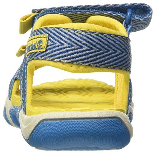 Timberland Eagle Island Sandalmykonos Blue Webbing, Sandales Bout Ouvert Mixte Enfant Bleu (Mykonos Blue Webbing)