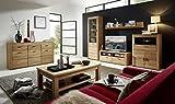 Bergen 5 Wohnzimmer Komplettset Wohnzimmerkombination Wohnwand Wildeiche Bianco
